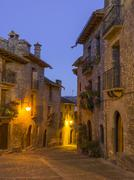Stock Photo of Alley in the historic centre Ainsa Aragon Spain Europe