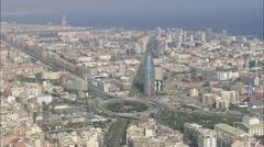 AERIAL Spain-Agbar Tower Stock Footage