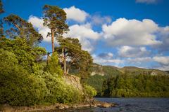 Derwentwater or Derwent Water Keswick Lake District National Park Cumbria - stock photo
