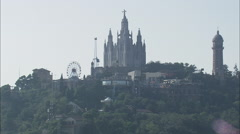 AERIAL Spain-Temple Of The Sacred Heart Of Jesus Stock Footage