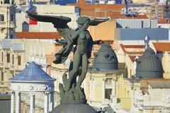 Stock Photo of Statue on the Edificio Metropolis Madrid Spain Europe