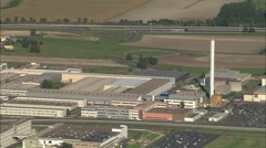 AERIAL France-Michelin Factory And Test Track Stock Footage