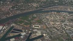 AERIAL France-Stade De Gerland Stock Footage