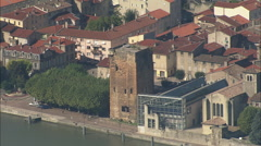 AERIAL France-Vienne Stock Footage