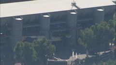 AERIAL France-Stade Geoffroy-Guichard, Saint-Etienne Stock Footage