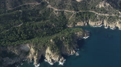 AERIAL Spain-Costa Brava Coastline Stock Footage