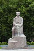 Monument to Janis Rainis 18651929 Latvian National poet and writer granite - stock photo