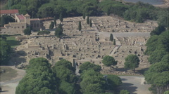 Empuries Roman Ruins Stock Footage
