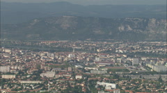 AERIAL France-Valence Stock Footage