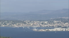 AERIAL France-Cannes From The Sea Stock Footage