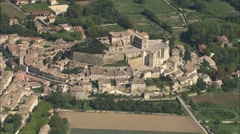 AERIAL France-Chateau De Grignan Stock Footage