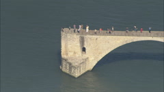AERIAL France-Pont Saint-Benezet - stock footage