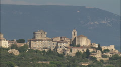 AERIAL France-Gordes - stock footage
