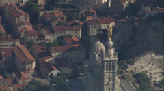 AERIAL France-Revealing Marseille From Notre-Dame De La Garde Stock Footage