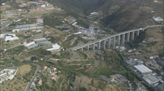 AERIAL Italy-Bridge On E80 At Casa Serena Stock Footage
