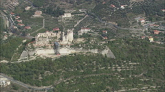 AERIAL Italy-Castle Gavone Stock Footage