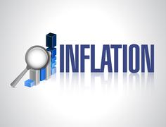 Stock Photo of inflation business graph sign concept