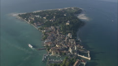 AERIAL Italy-Sirmione Stock Footage