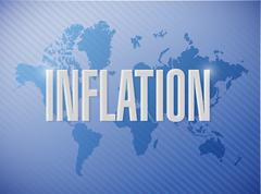 Stock Photo of inflation world sign concept illustration
