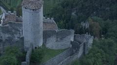 AERIAL Italy-Avio Castle Stock Footage