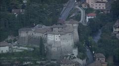 AERIAL Italy-Rovereto Stock Footage