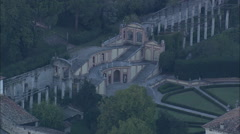 AERIAL Italy-Palace On Bank Of Lake Garda Stock Footage