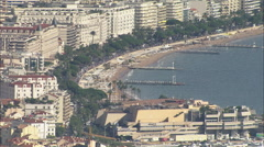 AERIAL France-Cannes - stock footage
