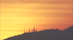 AERIAL Italy-Sunrise Over Mountains Stock Footage