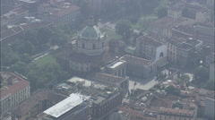 AERIAL Italy-Roman Catholic Basilica Stock Footage