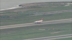 AERIAL France-Nice-Cote D'Azur Airport - stock footage