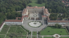 AERIAL Italy-Palace At Monza Stock Footage
