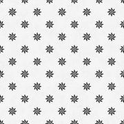 Black and White Eight Pointed Pinwheel Star Symbol Tile Pattern Repeat Backgr - stock illustration