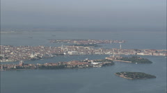 AERIAL Italy-Approaching Venice Stock Footage