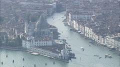 AERIAL Italy-San Giorgio Maggiore Stock Footage