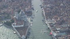 AERIAL Italy-Flight Approaching Venetian Lagoon Stock Footage