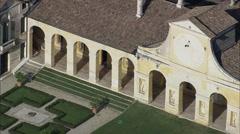 AERIAL Italy-Villa Di Maser Stock Footage