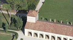 AERIAL Italy-Villa Emo - stock footage