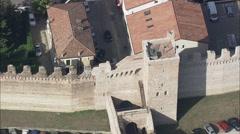 AERIAL Italy-Cittadella Stock Footage