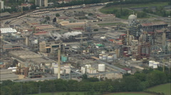 AERIAL France-Industrial Sites South Of Grenoble Stock Footage