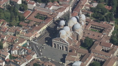 AERIAL Italy-Basilica Of Saint Anthony Of Padua Stock Footage