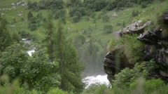 Alpine river flowing among the rocks in the gorge Stock Footage