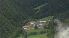 AERIAL France-Grande Chartreuse Stock Footage