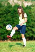 Woman footballer Kuvituskuvat