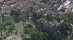 AERIAL Italy-Soave Stock Footage
