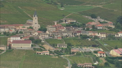 AERIAL France-Quincie-En-Beaujolais Stock Footage
