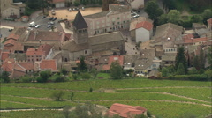 AERIAL France-Beaujeu Stock Footage