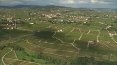 AERIAL France-Villages And Vineyards Stock Footage