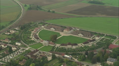 AERIAL France-Royal Saltworks At Arc-Et-Senans Stock Footage