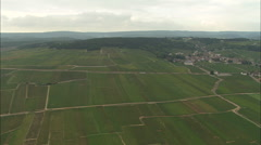 AERIAL France-Passing Pommard Stock Footage