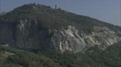 AERIAL Italy-San Leo Stock Footage